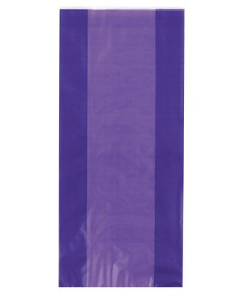 Cellophane Party Bags - Plain - Purple (Pack of 12)