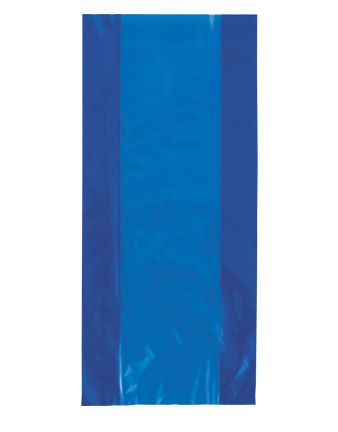 Cellophane Party Bags - Plain - Royal Blue (Pack of 12)