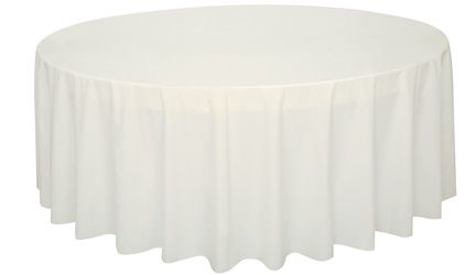Ivory Round Plastic Tablecloth