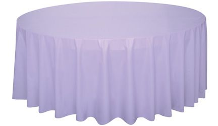 Lavender Round Plastic Tablecloth