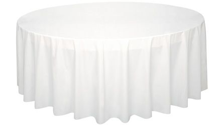 White Round Plastic Tablecloth