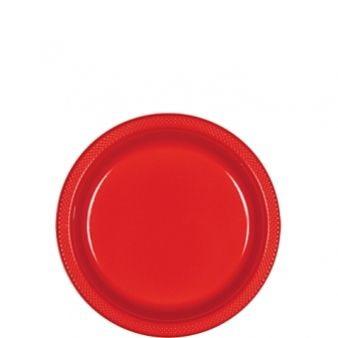 Apple Red 18cm Plates