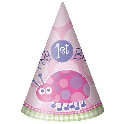 First Birthday LadyBug (pink) Hats